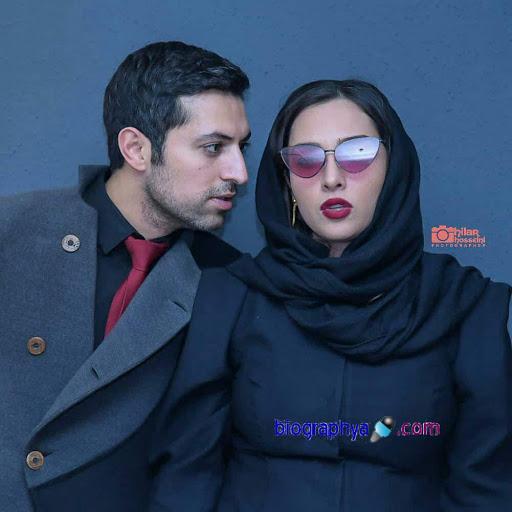 عکس عاشقانه اشکان خطیبی و همسرش