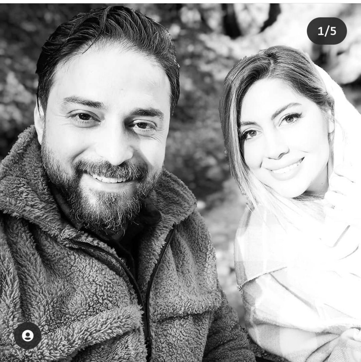 سلفی جذاب بابک جهانبخش و همسر دومش + تصاویر