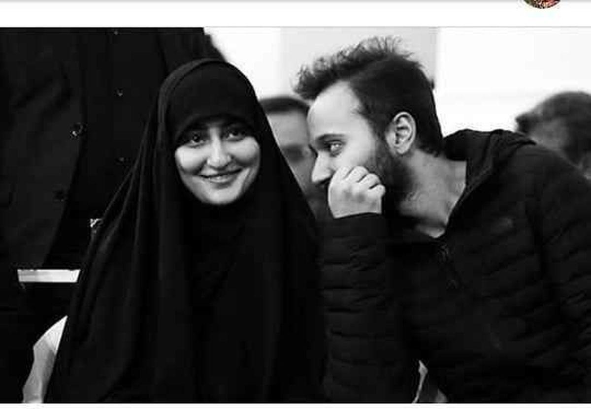 اولین تصویر زینب سلیمانی دختر سردار سلیمانی در کنار پدر همسرش + عکس دیده نشده